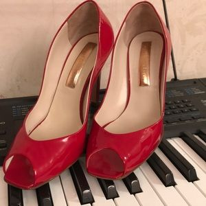 Rupert Sanderson Red patent leather heels size 7.5